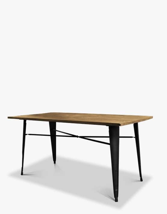 Mesa de comedor tolix negra samic uruguay Mesa comedor negra